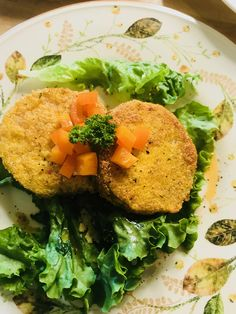 I make these delicious fried green tomatoes and top them with Pineapple vinegar & sesame oil!!