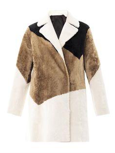 Reversible tri-colour shearling coat | Drome | MATCHESFASHION.COM