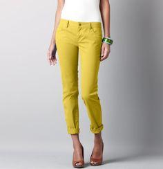 LOFT yellow twill pants $59.50