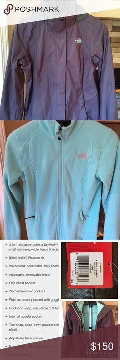 North Face  Triclimate 3 in 1 Jacket New with tags North Face 3 in 1 Tri Climate Jacket size small.  Just bought from North Face Outlet in the spring.  Tried on a couple of times, but does not fit. Retails between $199-250.  Comes from a smoke free home.  Make an offer! North Face Jackets & Coats