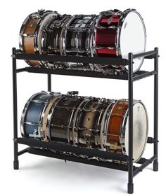 Showroom: Proline Snare Rack Since the world's most widely read drum magazine: in print, online, and the Modern Drummer app. Where the world's greatest drummer meet. Drums Studio, Music Studio Room, Sound Studio, Studio Setup, Drum Cases, Drums Girl, Consoles, Drums Artwork, Guitar Storage