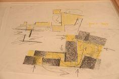 Peter Zumthor's sketch for Kolumba Museum Peter Zumthor Architecture, Museum Architecture, Architecture Drawings, Concept Architecture, Plan Drawing, Drawing Sketches, Museum Logo, Kolumba Museum, Louvre Museum