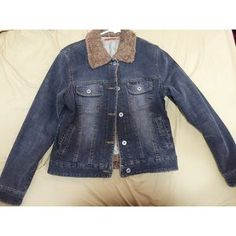 I just discovered this while shopping on Poshmark: Denim jacket (collared fur). Check it out!  Size: M