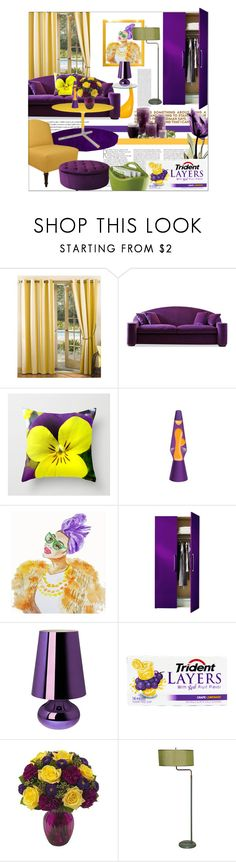 """FUSION"" by angelflair ❤ liked on Polyvore featuring interior, interiors, interior design, home, home decor, interior decorating, Cullen, Sun Zero, Lava Lite and Kartell"