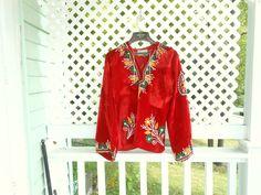 Embroidered India Fabric Boho Shirt Hooded Shirt Velvet Shirt 70s Hippie Shirt by ZasuVintage on Etsy