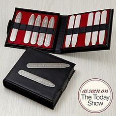 personalized hidden message collar stays - such a cute idea for a gift for that special guy