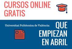 Cursos online gratis que empiezan en abril – UPV