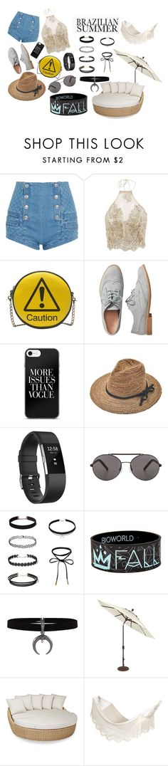 summer vacation by fashion-monster-747 on Polyvore featuring Pierre Balmain, Gap, Melie Bianco, Seafolly, Fitbit, Sunset West and Bloomingville