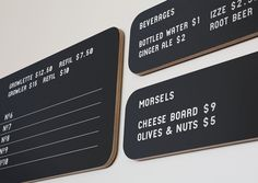 Loveland Aleworks — Manual. These menus have a slight retro feel to them, like a 50's diner.