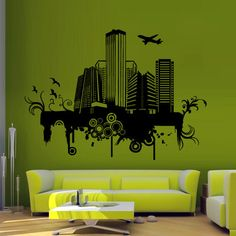 Wall decal decor decals art sticker NY city map by DecorWallDecals, $28.99