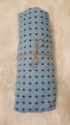 Blue Cross Fitted Crib Cot Sheet