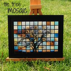 Dimensional Magic makes these look like ceramic tiles!  It's also a great project for you Instagram-ers out there.    Gorgeous tree mosaic. ~ Mod Podge Rocks!