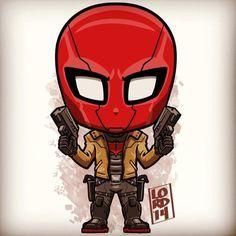 Jason Todd (The Red Hood) - lordmesa-art ( Chibi Characters, Comic Book Characters, Comic Character, Character Design, Heros Comics, Dc Heroes, Marvel Dc Comics, Nightwing, Lord Mesa Art
