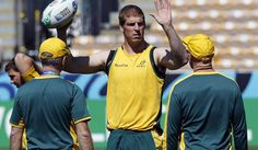 Photo: Australia Wallabies' Dan Vickerman takes part in their Captain's run in September, 2011. REUTERS/Brandon Malone