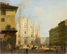 Category:Paintings in the Gallerie di Piazza Scala (Milan) Strasbourg Cathedral, Milan Cathedral, Barcelona Cathedral, Poster S, Poster Prints, Duomo Milano, Seville Spain, Traditional Paintings, Art World