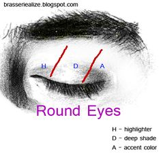 Eye Makeup Brasserie Alize: Basic makeup for round eyes