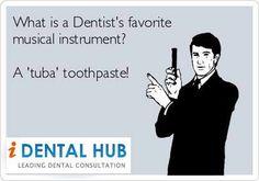 Dental Humor - Tuba Toothpaste!  At Morrison Dental Group in Williamsburg Virginia, we love a good laugh!