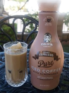 Califia Farms | Double Espresso Iced Coffee with Arabica coffee, Almond milk and pure cane sugar :-) Dairy free, Soy free, Cholesterol free!