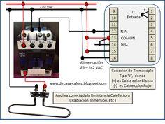 """Como hacer la Conexion de un contactor a un Control de Temperatura Tipo """"J""""…"""