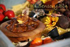 Fall Sensory Bin - happy hooligans