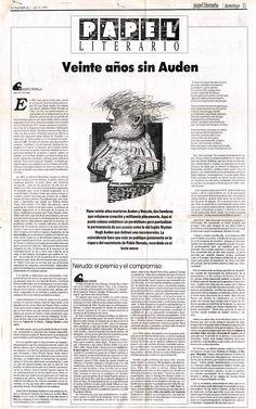 Papel Literario dedicado a Auden y Neruda. Publicado el 11 de julio de 1993.