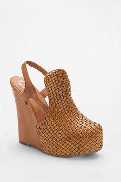 Jeffrey Campbell woven slingback wedges via UO.  Um...I need these.