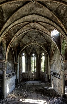 abandoned church in germany by rivende on flickr, no further info