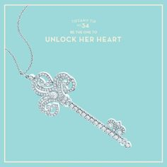 Isn't it time you gave her a key of her own? A Tiffany Enchant® diamond key pendant from our Valentine Gift Guide.