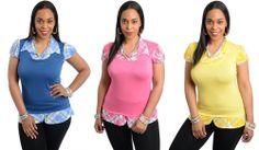 NeW wOmEN sExY Short SleEve cAsuAL JUNIOR Plus Size SliM ToP bLouSE Shirt 1X-3X #Stanzino #Blouse #Casual