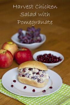 Harvest Chicken Salad with Pomegranate | My Little Gourmet