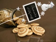 """Mocha """"Pin Wheel"""" cookies"""