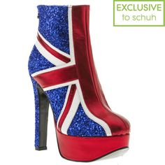 Red or Dead -  Navy & Red Rod Dazzle Glitter at Schuh