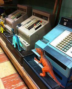 Old cash registers at AL Stickle