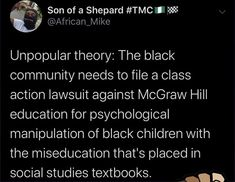 Social Studies Textbook, Psychological Manipulation, Mcgraw Hill, Knowledge Is Power, Black Kids, Wise Words, Psychology, Education, Black Boys