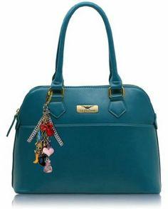 KCMODE Womens Teal Blue Patent Tote Fashion Designer Shoulder Handbag: Amazon.co.uk: Clothing