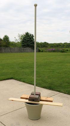 Enbrighten Café Lights and DIY Light Pole Planter Outdoor Crafts, Outdoor Projects, Diy Projects, Backyard Lighting, Outdoor Lighting, Lighting Ideas, Garden Lighting Diy, Patio Diy, Backyard Patio