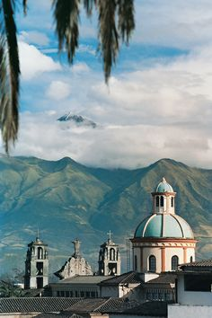 Church in Otalvalo with the Andes in Background, Ecuador | Petr Svarc Images