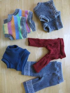 Wool soakers from old sweaters. shorties/longies patterns