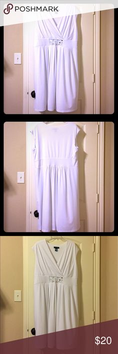 c2b2ae407bd Shop Women s Ashley Stewart White size Dresses at a discounted price at  Poshmark. Missing one jewel see last image.
