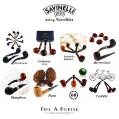 2014 Novelties by Savinelli online shop www.pipeaporter.com