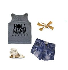 Summer stylin for all lil girly babes   Hola Mama  Tap for outfit deets   Shop at www.stellar-seven.com or click on link in profile  #stellarseven #kidsootd #kidsfashion #ig_kids #instababy #babyfashion #instagram_kids #shopsmall #supportsmallbusiness