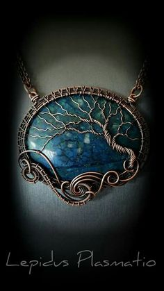 fantasy tree on labradorite
