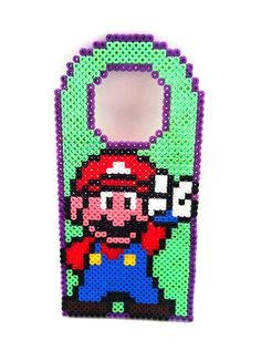Mario Nintendo Hama Perler Door Hanger by UpcyclingBritain