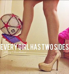 Mine is a soccer cleat and a pointe shoe but you get the idea :) or a boot and a pointe shoe