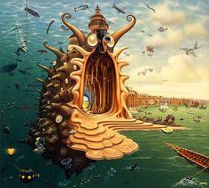 Dream World Revealed on Canvas – 21 Mind Blowing Paintings by Jacek Yerka