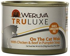 Weruvas TruLuxe Cat Food On The Cat Wok with Chicken Breast  Beef in Pumpkin Soup 6oz Can Pack of 24 >>> Learn more by visiting the image link.