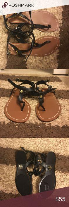 Lauren Ralph Lauren Sandals Never worn! PERFECT condition. Super cute black Ralph Lauren sandals! I took the sticker tag off the bottom because I thought I was going to keep them. Lauren Ralph Lauren Shoes Sandals