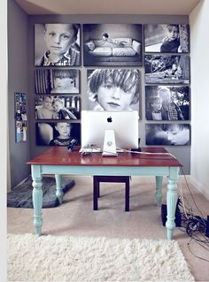 Love this idea for my new den! Photostudio/office space!