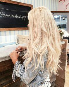 Long beachy blonde hair
