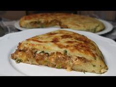 So good and easy minced meat stuffed potato pancake - YouTube Ground Meat Recipes, Veg Recipes, Chicken Recipes, Cooking Recipes, One Pan Meals, Easy Meals, Homemade Chicken Pot Pie, Carne Picada, Potato Pancakes